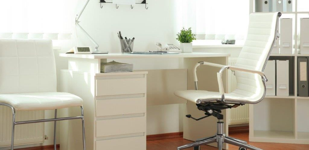white doctors room desk